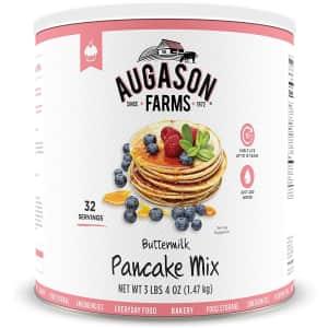 Augason Farms Buttermilk Pancake Mix 52-oz. Can for $7