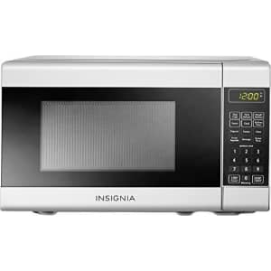 Insignia - 0.7 Cu. Ft. Compact Microwave - White for $120