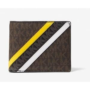 Michael Kors Billfold Wallet with Passcase for $36