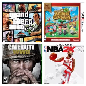 Pre-Owned Games at GameStop: 5 for $50