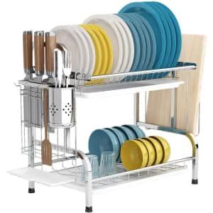 Lanoved 2-Tier Dish Drying Rack for $25