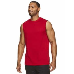 HEAD Men's Hypertek Mesh Gym Training & Workout Muscle Tank - Sleeveless Activewear Top - Varsity for $15