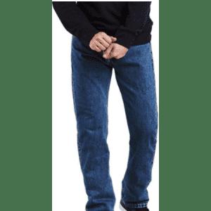 Levi's Men's 505 Regular Fit Jeans for $21