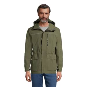 Lands' End Men's Lightweight Squall Parka with Hood for $48