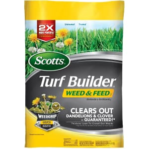 Scotts Turf Builder Weed & Feed 5,000-Sq. Ft. Bag for $21
