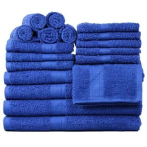 Mainstays Basic Bath Collection 18-Piece Towel Set for $25