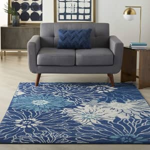 Nourison Passion 4x6-Foot Bohemian Floral Area Rug for $47