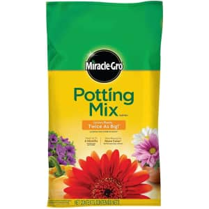 Miracle-Gro Potting Mix 1-Cu. Ft. Bag for $8