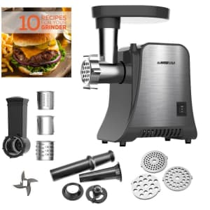 GoWise 800W 4-in-1 Meat Grinder and Food Processor for $60