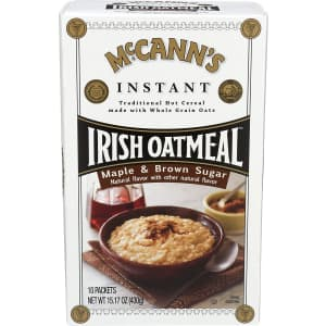 McCann's Maple & Brown Sugar Instant Irish Oatmeal 10-Pack for $2.46 via Sub & Save