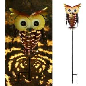 Tomshine Solar LED Owl Stake Light for $13