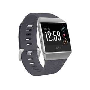 Fitbit Ionic GPS Smart Watch, Blue-Gray/Silver, One Size (S & L Bands Included) (Renewed) for $199