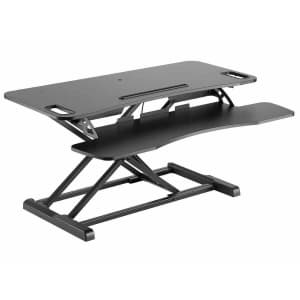 """Workstream by Monoprice 37"""" Sit-Stand Desk Converter for $73"""