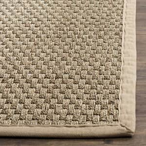 Safavieh Natural Fiber Collection NF114A Border Basketweave Seagrass Accent Rug, 2' x 3', Beige for $25