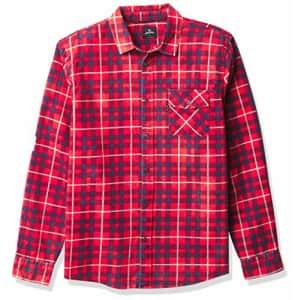 Rip Curl Men's Big Boys' Return Long Sleeve Shirt, Bright Red, M for $24