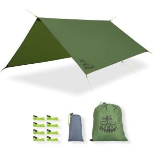 Deerfamy 10-Foot Camping Tarp for $17