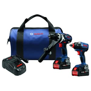 Bosch GXL18V-225B24 18V 2-Tool Combo Kit with Brute Tough 1/2 In. Hammer Drill/Driver and 1/4 In. for $519
