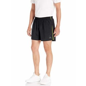adidas Men's Own The Run Shorts, Black/Olive, Medium for $34