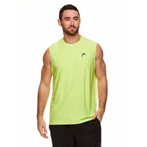 HEAD Men's Hypertek Gym Tennis & Workout Muscle Tank - Sleeveless Activewear Top - Score Neon for $30
