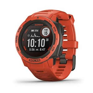Garmin Instinct Solar, Solar-Powered Rugged Outdoor Smartwatch, Built-in Sports Apps and Health for $400