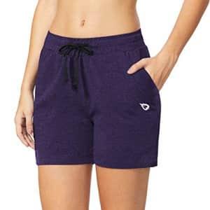 "BALEAF Women's 5"" Casual Jersey Cotton Shorts Lounge Yoga Pajama Walking Shorts with Pockets for $22"