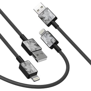 iFory MFi Certified 3-Ft. Lightning Cable 2-Pk. for $7