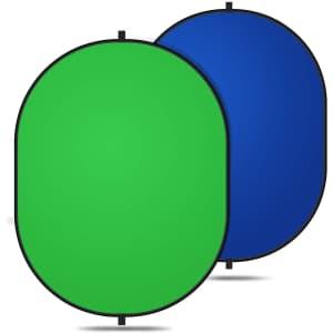 Yesker 2-in-1 Chromakey Reversible Green Screen for $24