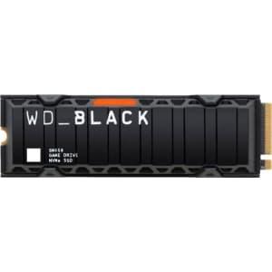 WD WD_Black SN850 500GB Internal PCIe NVMe Gaming SSD w/ Heatsink for $130