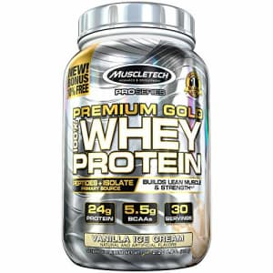 MuscleTech Premium Gold 100% Whey Protein Powder for $22