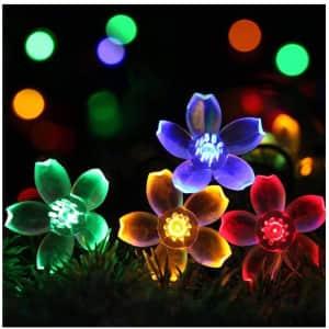 Semilits 23-Foot Solar Flower String Lights for $15