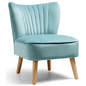 Costway Velvet Armless Accent Chair for $122