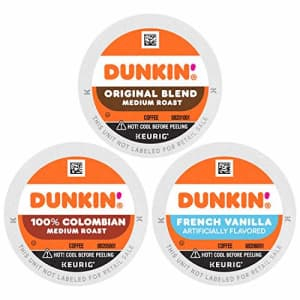 Dunkin Donuts Dunkin' Donuts Best Sellers Coffee Variety Pack, 60 K Cups for Keurig Coffee Makers (Packaging May for $38
