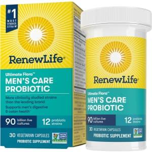 Renew Life Ultimate Flora Men's Care Probiotic 30-Count Capsules for $37