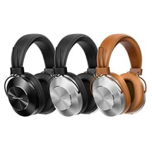 Pioneer Bluetooth and High-Resolution Over Ear Wireless Headphone, Silver (SE-MS7BT-S) for $171