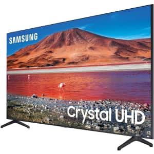 "Samsung Crystal TU-6950 Series UN82TU6950FXZA 82"" 4K HDR LED UHD Smart TV for $1,198 w/ $100 Amazon Credit"