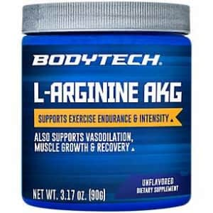 BodyTech LArginine AKG 3000MG Supports Exercise Endurance Intensity, Muscle Growth Recovery, for $15