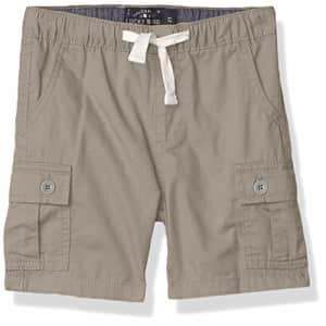 Lucky Brand Boys' Pull on Shorts, Steeple Gray Cargo, 6 for $34