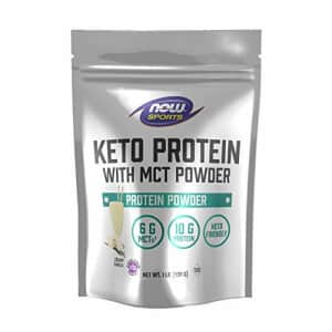 Now Foods Now Sports, Keto Protein with Mct Powder, with 6g of Mct's and 10g of Protein, Vanilla, 1 Pound for $28