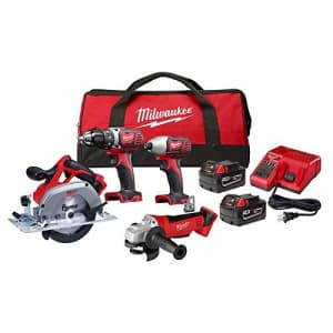 Milwaukee 2691-24G 18-Volt Cordless Combo Tool Kit (4-Tool) with Two 3.0 Ah Batteries, 1-Charger, for $640