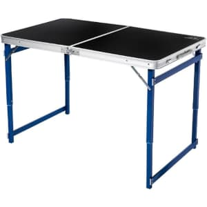 Mountain Summit Gear Heavy Duty Quad Adjustable-Height Folding Table for $75