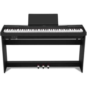 Donner 88-Key Digital Piano with Stand and Pedals for $304