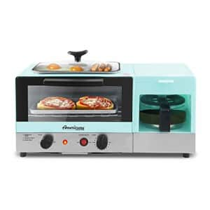 """Elite Gourmet Americana 2 Slice, 5.5"""" Griddle, 3-in-1 Breakfast Center Station, 4-Cup Coffeemaker, for $60"""