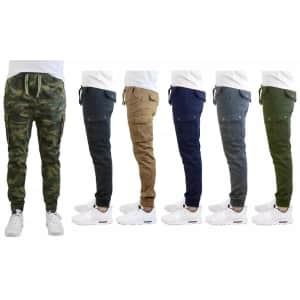 Galaxy by Harvic Men's Cargo Joggers for $17