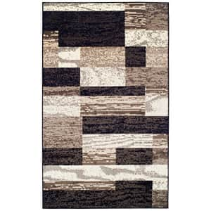 Superior Modern Rockwood Collection Area Rug, 8mm Pile Height with Jute Backing, Textured Geometric for $135