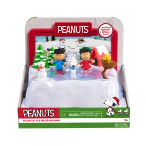 Peanuts Motorized Ice-Skating Rink for $12