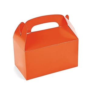 Fun Express Orange Treat Favor Boxes - Set of 12 - Halloween and Party Supplies for $12