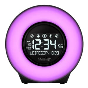 La Crosse Technology LCD Alarm Clock for $23