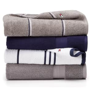 Tommy Hilfiger Modern American Cotton Mix & Match Bath Towel Collection from $3.20