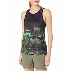 SHAPE activewear Women's Summit Tank, Black/Fireflies Print, Small for $35