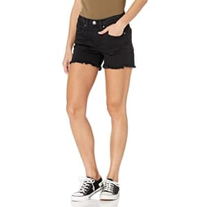 Silver Jeans Co. Women's Not Your Boyfriend High Rise Jean Shorts, Black Eco Fabric, 24W for $56